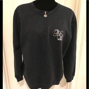 HARLEY DAVIDSON half zip black sweatshirt size XL